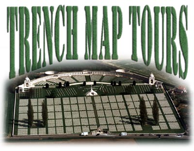 Trench Map Tours - Tyne Cot CWGC - Passchendaele from the air